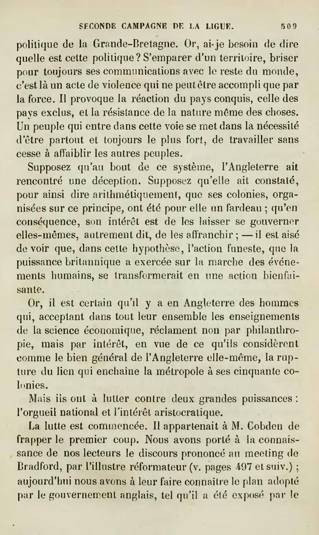 Page œuvres Completes De Frederic Bastiat Guillaumin 3 Djvu 519