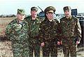 Герой России генерал-полковник Трошев Г.Н. и командование 58 армии. Учения , Баксан, октябрь 2001.jpg