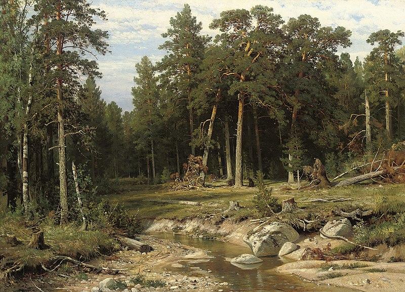 File:Иван И. Шишкин - Мачта сосновый лес в Вятской губернии.jpg