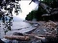 Лагерь в Беле вечером с костром издали озеро.jpg