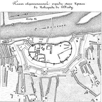 1701 in Russia - Новгородские бастионы 1701 года