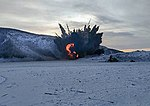 Подрыв обрушенных скальных пород на Бурейском водохранилище 07.jpg