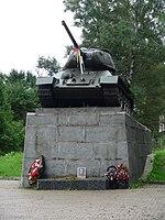 Танк Т-34 на Ленинградском шоссе близ Зеленограда.jpg