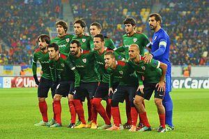 El Athletic en un partido de la Liga de Campeones 2014-15 frente el  Shakhtar Donetsk. 3727bda56dca0