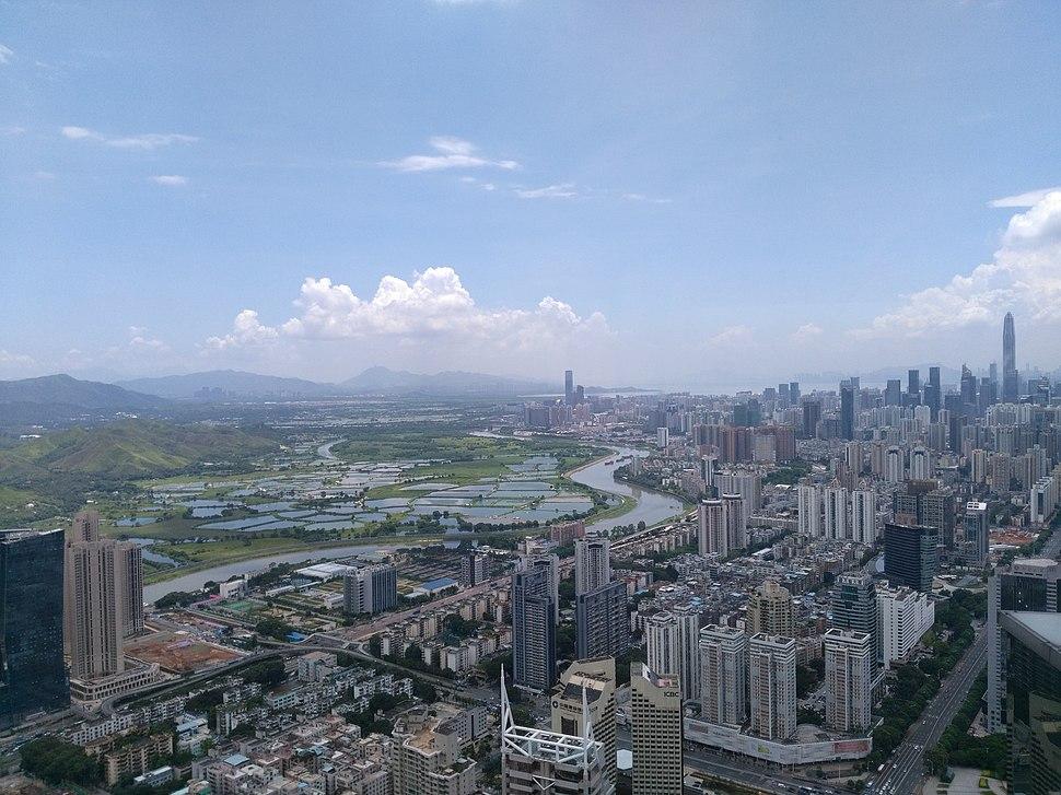 从地王大厦上俯瞰鹏城