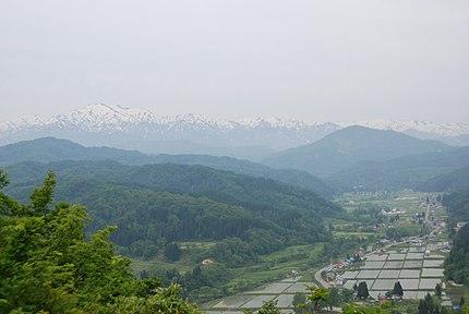 中津川地区の景観