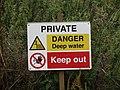 -2018-08-19 Danger deep water sign, Gimingham.JPG
