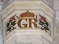 060 Stoke Rochford Ss Andrew & Mary, interior - chancel arch George VI cypher.jpg