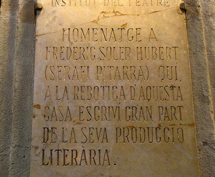 File:079 Homenatge a Pitarra, c. Avinyó.jpg