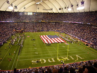 2007 Minnesota Vikings season - The Vikings 2007 opener at the HHH Metrodome