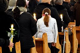 Candles on Candlemas Day, Christ the King Church, Sanok, Poland 2013