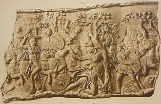 Jordanes - The deeds of Dacians and Getae (here from Trajan's column) were wrongly attributted to Goths by Jordanes