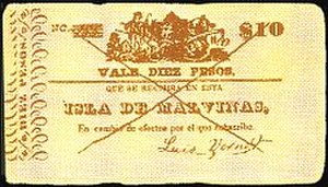 Luis Vernet - Vernet's settlement with the British Government was reduced in order to settle promissory notes such as this left in the Falkland Islands