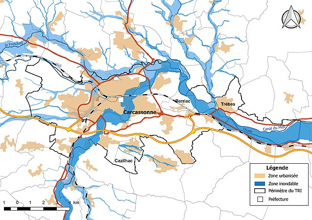 carte zone inondable aude Risque d'inondation dans l'Aude — Wikipédia