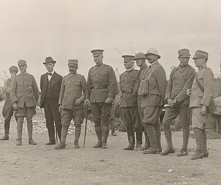 Baker as an observer with staff officers on the italian front in late 1918. 111-SC-25389 - NARA - 55210325-cropped.jpg