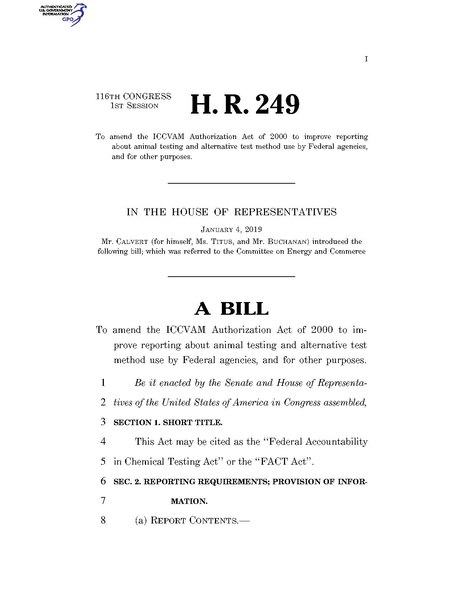 File:116th United States Congress H. R. 0000249 (1st session) - FACT Act.pdf