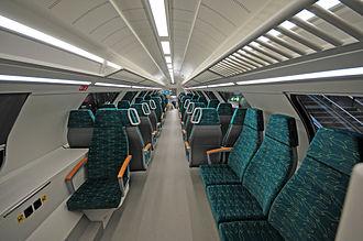Ostdeutsche Eisenbahn - Second class interior of a Stadler KISS