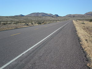 U.S. Route 60 - US 60 looking west, west of Socorro, NM