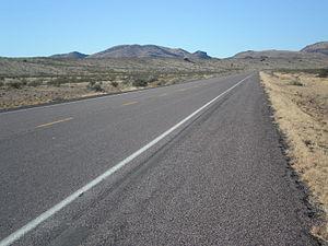 U.S. Route 60 - US 60 looking west, west of Socorro, NM