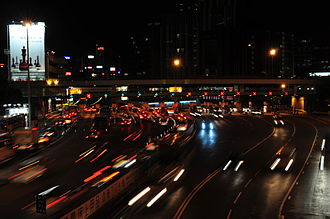 Toll road - Hong Kong toll booth.