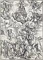13. Albrecht Dürer, Apokalypsa, XI. Nebeská sklizeň, Národní galerie v Praze.jpg