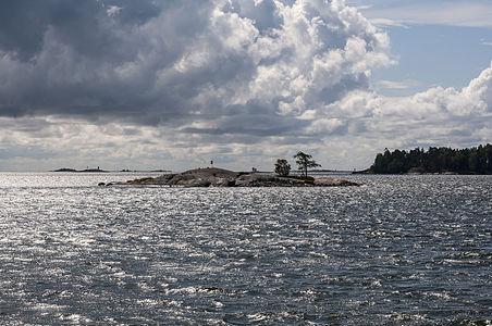 Island Kalliosaarenluoto in Helsinki, Finland