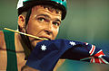 141100 - Athletics wheelchair racing Kurt Fearnley Australian flag - 3b - 2000 Sydney race photo.jpg