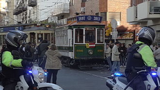 Federico Lacroze - A Lacroze Company tram on the Buenos Aires Heritage Tramway.