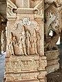 15th-16th century Vaishnavism Vitthala temple Sita Rama Lakshmana Ramayana relief, Hampi Hindu monuments Karnataka.jpg