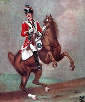 Battle of Vila Velha - A trooper of the 16th light Dragoons, also known as Burgoyne's Light Horse.