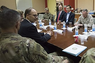 Keith Schiller - Keith Schiller sitting to the right of Jared Kushner on his trip to Iraq