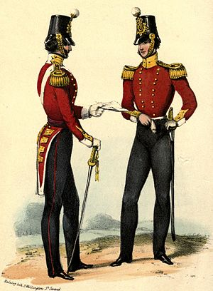 Royal Leicestershire Regiment - Regimental uniform, 1840s