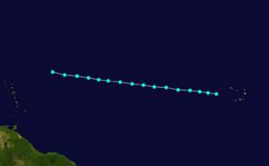 1870 Atlantic hurricane season - Image: 1870 Atlantic tropical storm 3 track