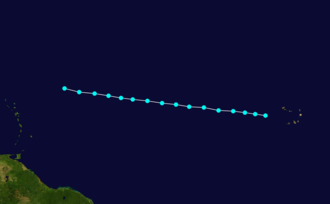1870 Atlantic hurricane season - Image: 1870 Atlantic tropical storm 3 track