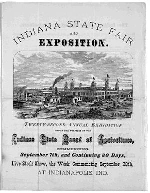 Timeline of Indianapolis - Image: 1874 Indiana State Fair LC