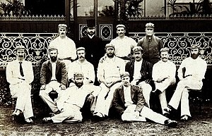 Tup Scott - Tup Scott pictured front right with the 1884 Australian cricket team