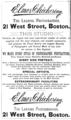 1888 Elmer Chickering photographer advert 21 West Street Boston USA.png