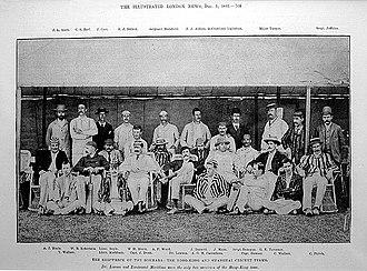 SS Bokhara - Hong Kong and Shanghai's cricket teams pose for a photograph.