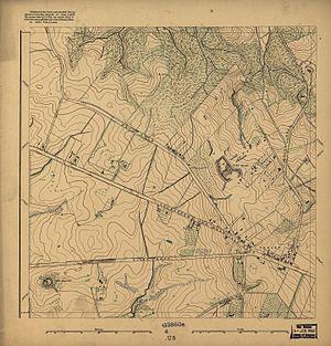 Tenleytown - 1892 map of rural area around Tenley