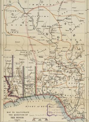 History of the Yoruba people - Map of Yoruba people, West Africa (Nigeria), 1898