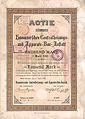 1899-04-17 Aktie Hannoversche Centralheizungs- und Apparate-Bau-Anstalt, 1884 gegründet, 1903 umfirmiert in Centralheizungswerke AG, 1926 Vergleichsverfahrung, dann Liquidation.jpg