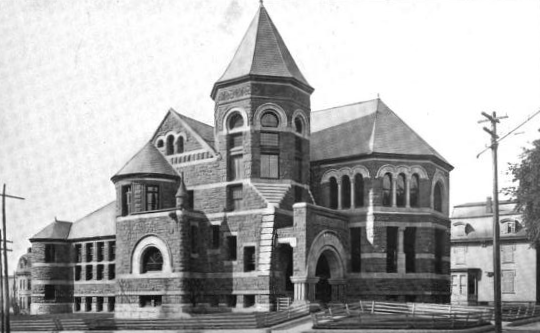 1899 Lawrence public library Massachusetts