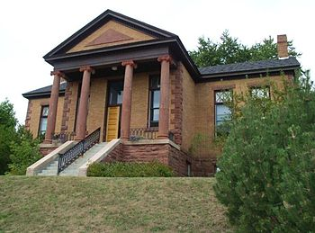 English: Bayfield Public Library, a Carnegie L...