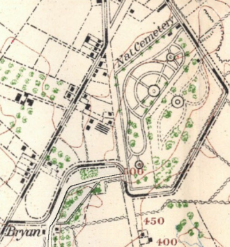 Brian Farm - Image: 1904 Cope map Gettysburg National Cemetery