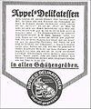 1915 circa Appels Delicatessen in allen Schützengräben, Werbung Erster Weltkrieg.jpg