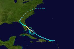1928 Fort Pierce hurricane - Image: 1928 Atlantic hurricane 1 track