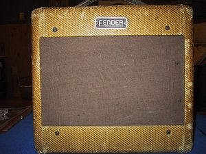 Fender amplifier - 1953 Fender Champ in tweed covering, wide-panel cabinet