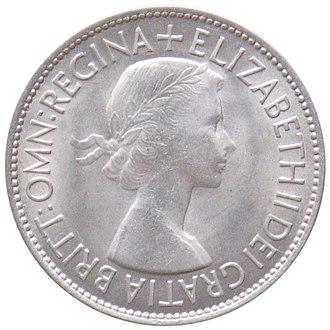 Half crown (British coin) - Image: 1953 half crown obverse