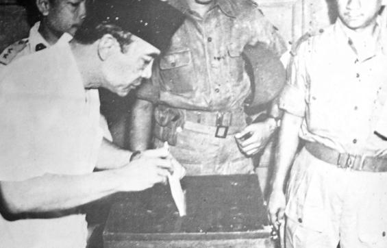 1955 Indonesian Election Sukarno