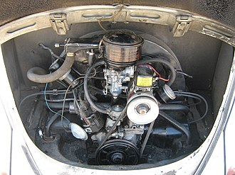 Rear-engine, rear-wheel-drive layout - Image: 1962 Volkswagen Beetle Engine (3564060578)
